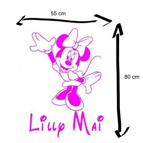Sticker minnie pr nom personnalis achat vente for Stickers exterieur personnalise