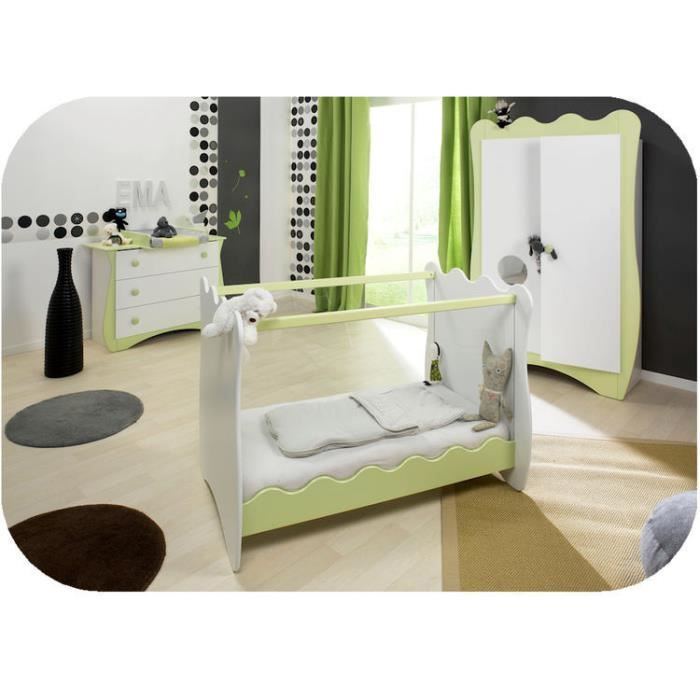 chambre b b compl te doudou vert anis k rouman achat vente chambre compl te b b chambre. Black Bedroom Furniture Sets. Home Design Ideas