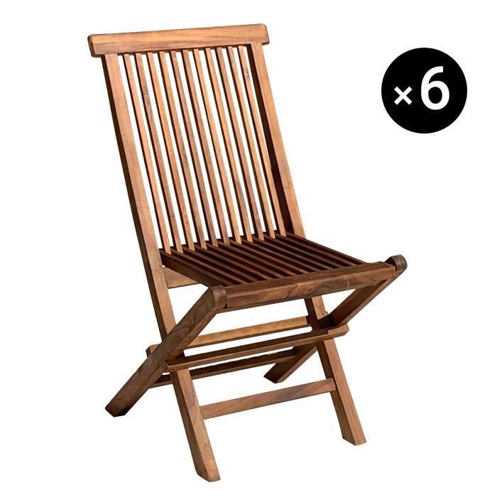 chaise de teck jardin en Lot 4 de P8n0OkXw