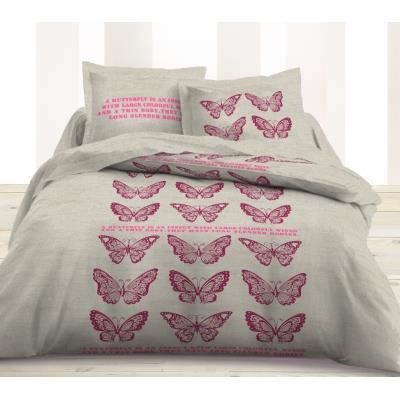 housse de couette et taies d 39 oreiller butterflies achat. Black Bedroom Furniture Sets. Home Design Ideas