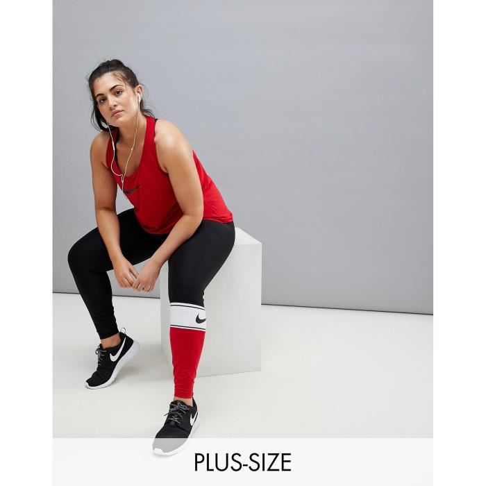 ad789d6c60 Nike Plus - Training - Leggings color block - Rouge LH4PA Taille-40 ...