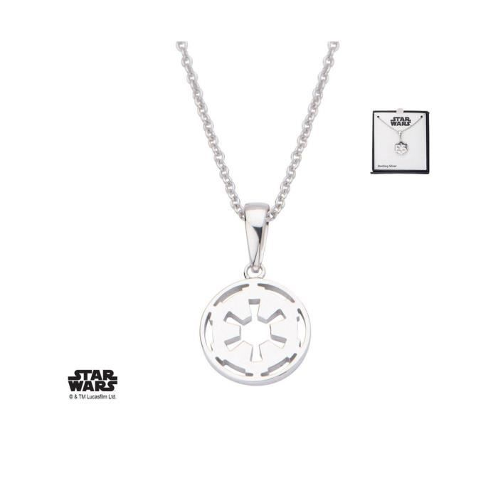 SASO - Star Wars - Collier argent Galactic Empire Symbol 46 cm