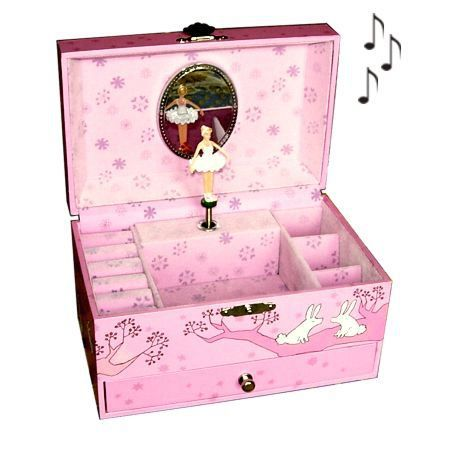 boite bijoux musicale enfant arbre rose achat vente. Black Bedroom Furniture Sets. Home Design Ideas
