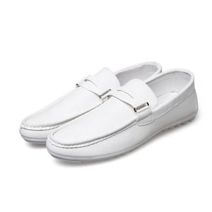 Mocassin Hommes Comfortable Detente Chaussures WYS-XZ74Blanc42