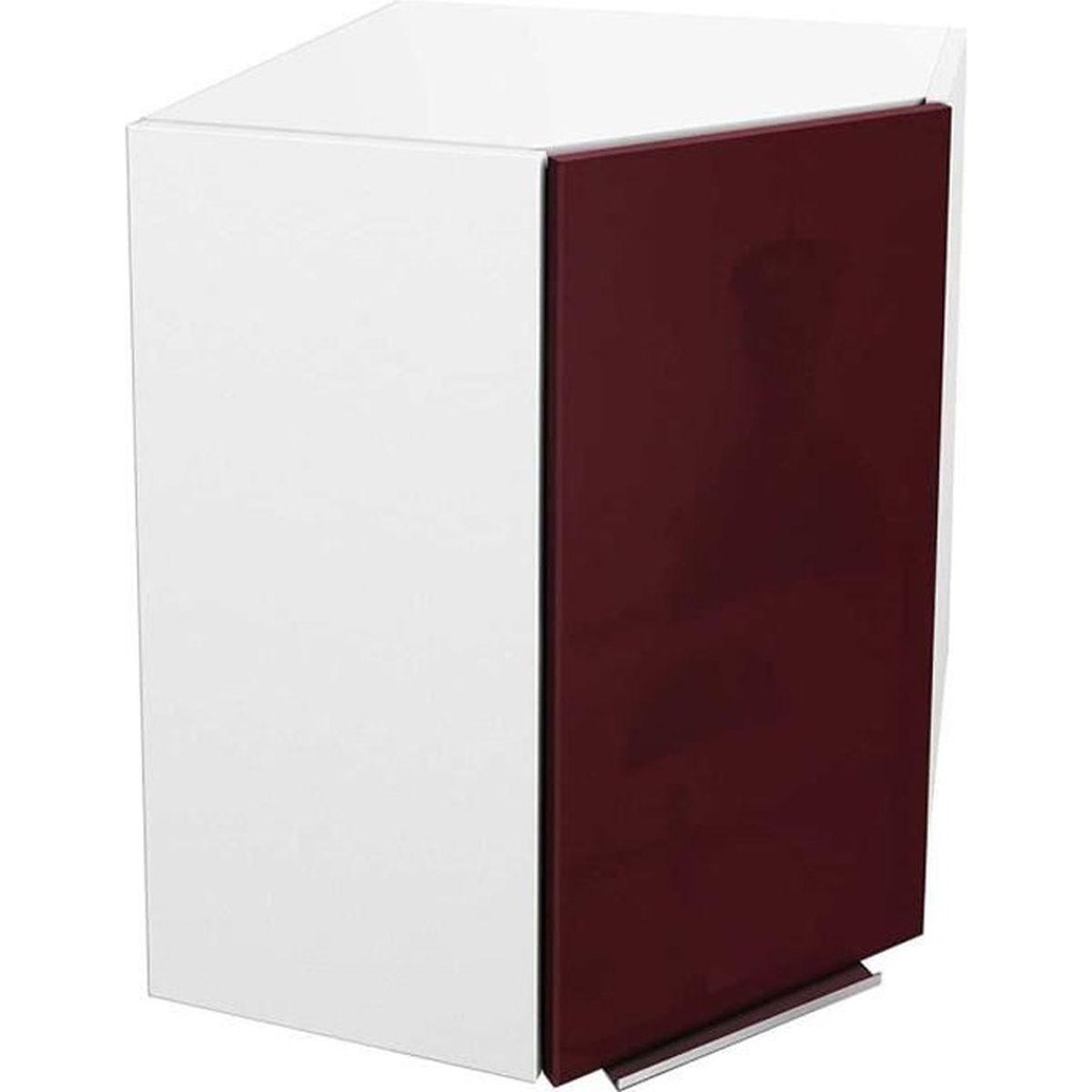 Cuisine Gris Et Bordeaux meuble de cuisine angle haut - 58cm - bordeaux - Élément