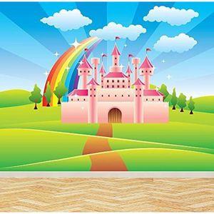 PAPIER PEINT fairytale arc-en-château coloré  papier peint enfa