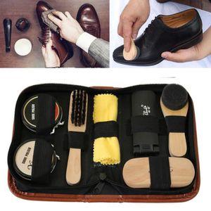 CIRAGE ET ENTRETIEN Service de cirage de chaussures Kit brosses de net