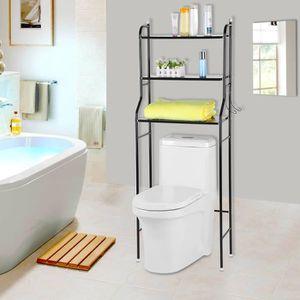 COLONNE - ARMOIRE WC 3 Niveaux Etagère Pour Toilettes Et WC Rangement M