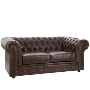 canap chesterfield 2 places achat vente canap chesterfield 2 places pas cher cdiscount. Black Bedroom Furniture Sets. Home Design Ideas