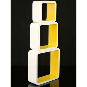etagere cube jaune achat vente etagere cube jaune pas cher cdiscount. Black Bedroom Furniture Sets. Home Design Ideas
