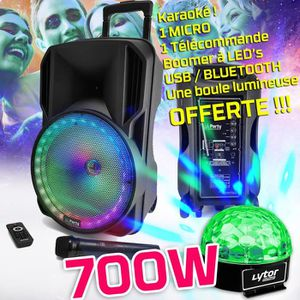 PACK SONO Enceinte PARTY KARAOKE 700W sono DJ portable sur B