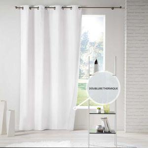 RIDEAU Rideau a oeillets 140 x 260 cm polyester uni therm