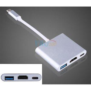 LECTEUR DE CARTE EXT. Adaptateur USB 3.1 Type C Male Vers HDMI USB 3.0 M