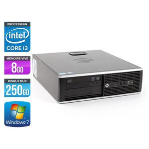 UNITÉ CENTRALE  HP Elite 8200 SFF - Intel Core i3 / 3.10GHz - 8Go