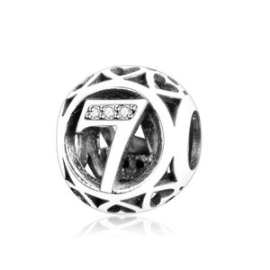 """Charm's Charmes Numéros - Argent 925 et Crystal Numéros """"7"""