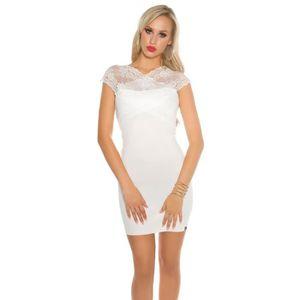ROBE robe blanche haut dentelle broderie sexy femme nou