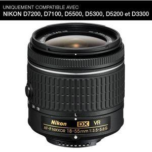OBJECTIF NIKON AF-P DX NIKKOR 18-55mm f/3.5-5.6G VR