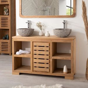 meuble salle de bain teck achat vente meuble salle de. Black Bedroom Furniture Sets. Home Design Ideas