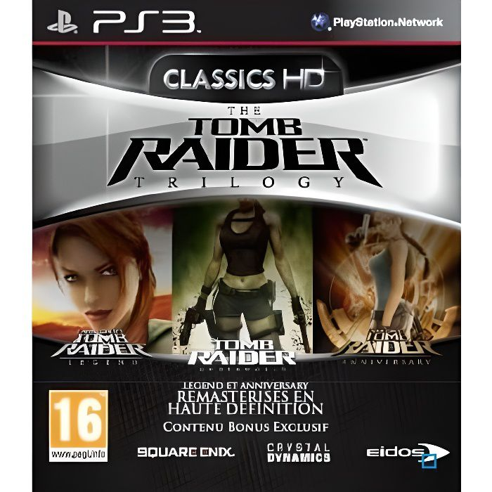jeux pc video console playstation  ps tomb raider trilogy hd jeu f