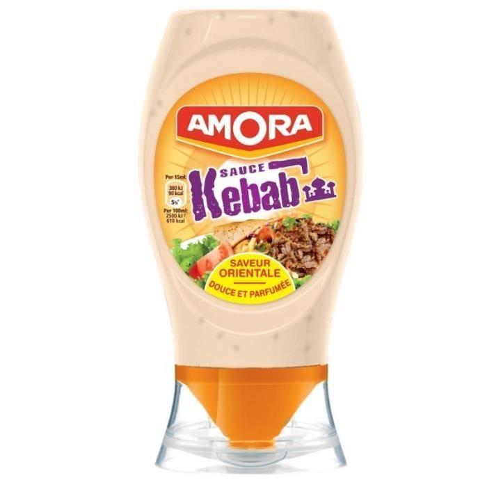 Amora Sauce Kebab Douce et Parfumée 256g (lot de 5)