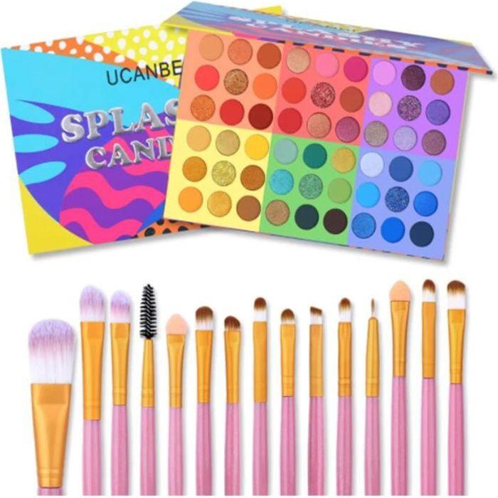 Kit de maquillage de fard à paupières UCANBE palette de fard à paupières 54 couleurs