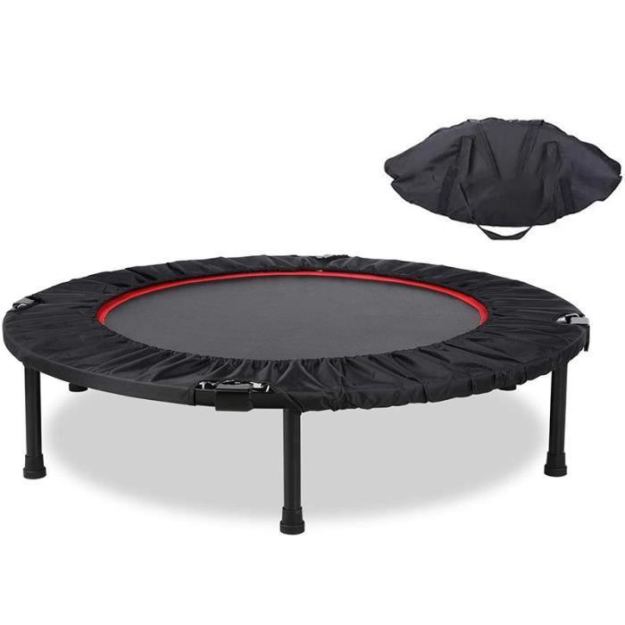 WISS Trampoline de gymnastique de qualité professionnelle Ø 102 cm élastiques Bungee Noir