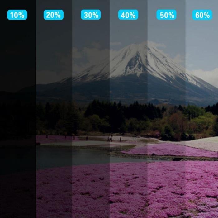 Film à teinter en céramique Nano - 0.5x3m, pour la maison, vitres bâtiment Film à teinte 2 - Modèle: 75 percent VLT - ANQCFSYA01814