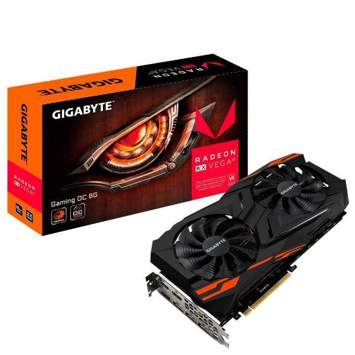 Gigabyte GV-RXVEGA64GAMING OC-8GD Carte Graphique Autre Radeon RX Vega 64 8192 Mo PCI Express