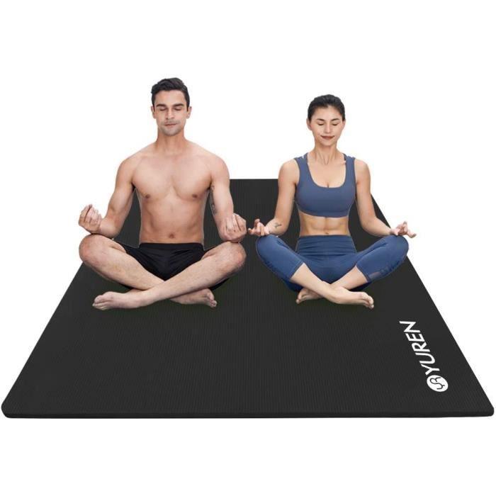 tapis YUREN Tapis d'exercice Fitness 130&times200cm 10mm-15mm &Eacutepais NBR Grand Tapis de Yoga pour Pilates -&eacutetireme111