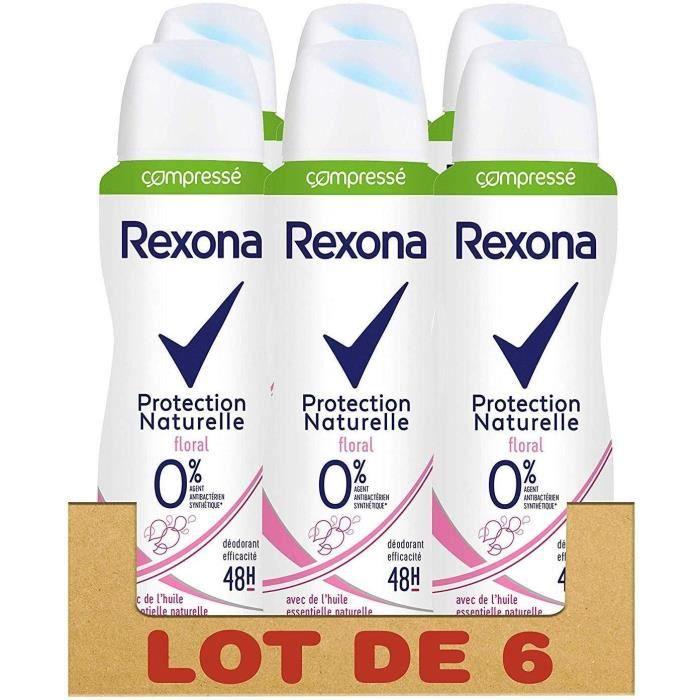 REXONA Lot de 6 Déodorants Femme Spray Compressé Parfum Floral - 100ml
