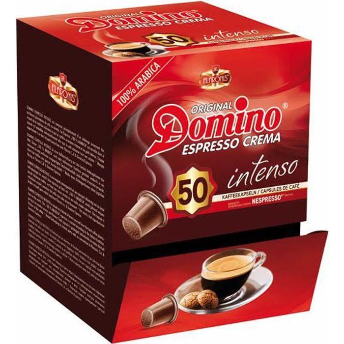 DOMINO Café 50 capsules compatible Nespresso