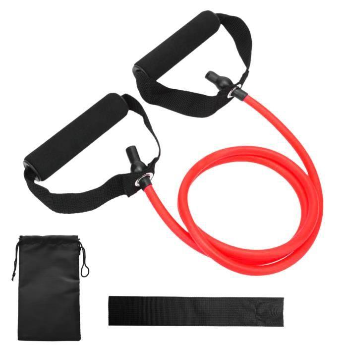 Bandes de tube de tonification de résistance Bande d'exercice élastique d'entraînement physique avec ancrage de porte et sac de -84