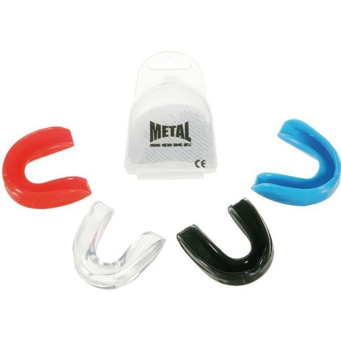 Protège dents Metal Boxe - Transparent, Noir, Rose, Rouge ou Bleu