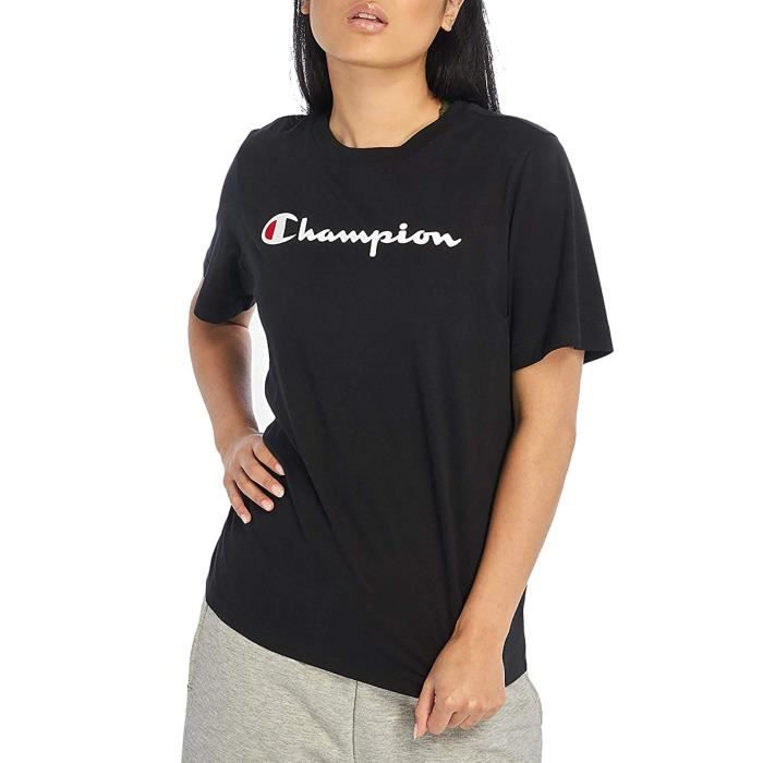 CHAMPION T-SHIRT FEMME NOIR 111971KK004