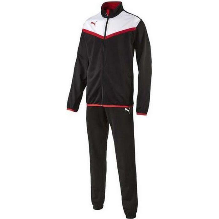 Jogging Puma Homme Noir Blanc et Rouge