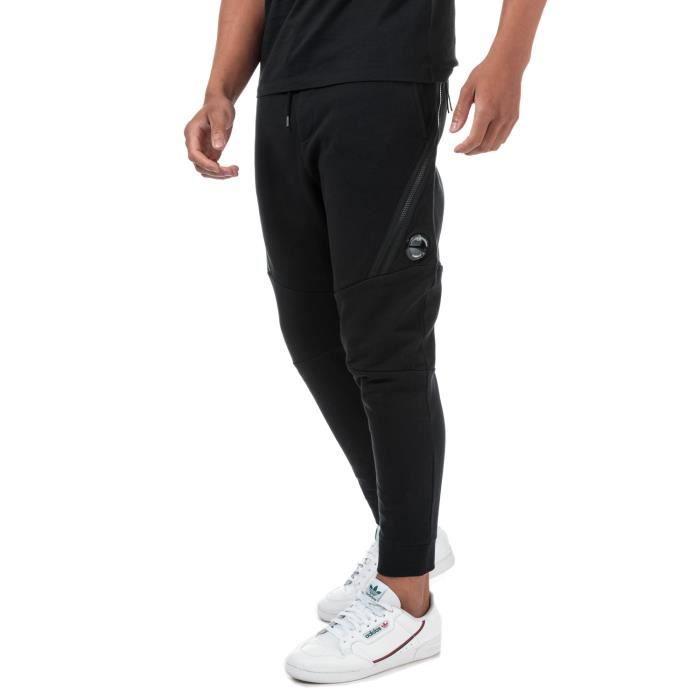 Jogging C.P. Company Diagonal Fleece Pour Homme En Noir.