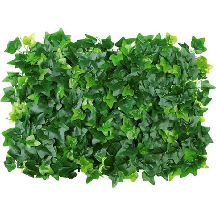Plante artificielle Panneau de couverture artificielle mur de lierre Clôture écran Faux Herbe Petit Creeper vert