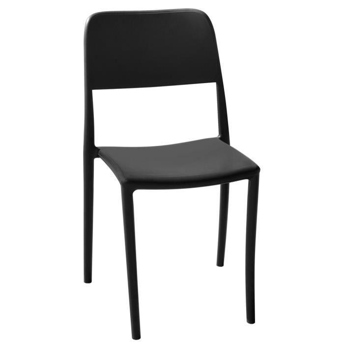 Chaise haute en polypropylène coloris gris anthracite - 44 x 53 x 63 cm