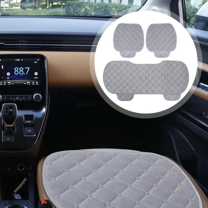 1 SET COUSSINS DE SIÈGE AUTO PRATIQUE EN PELUCHE TAPIS D'HIVER cale dos - repose-tete confort conducteur passager