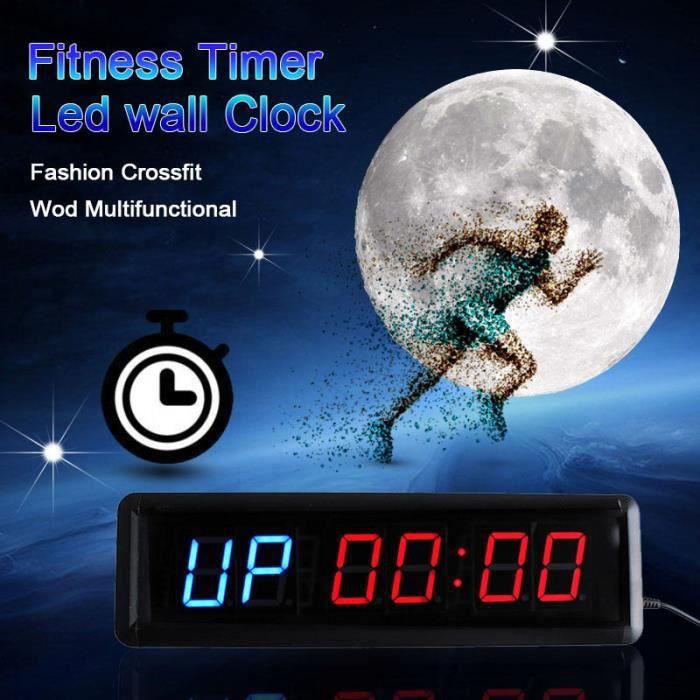 TEMPSA 13.5 Pouce Timer de fitness sport - Minuterie multifonctionnelle pr Gym Match de boxe maison horloge EU PRISE