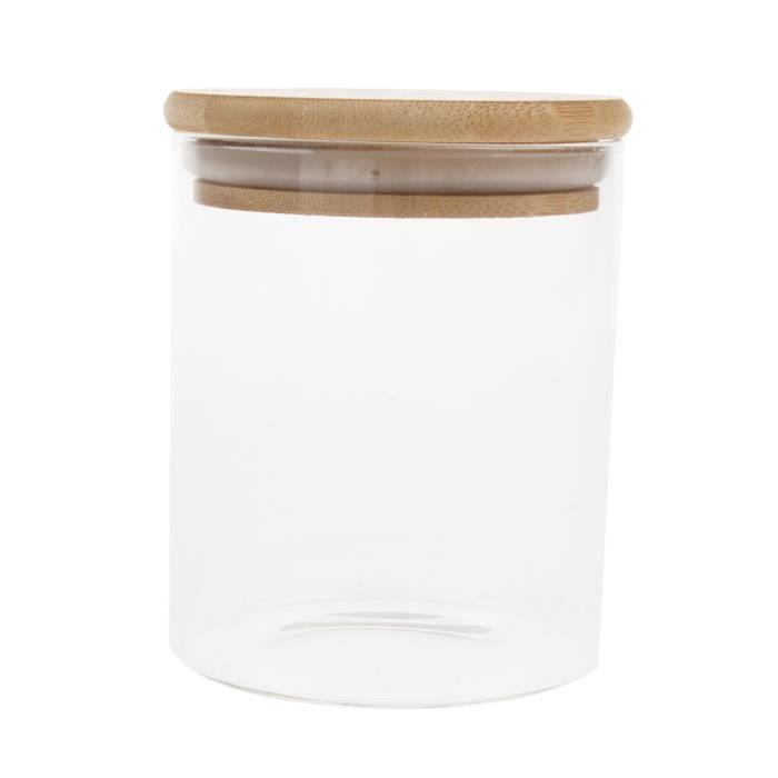 Récipient scellé de grains de café de nourriture de verre de pot de fiole PETSOLA