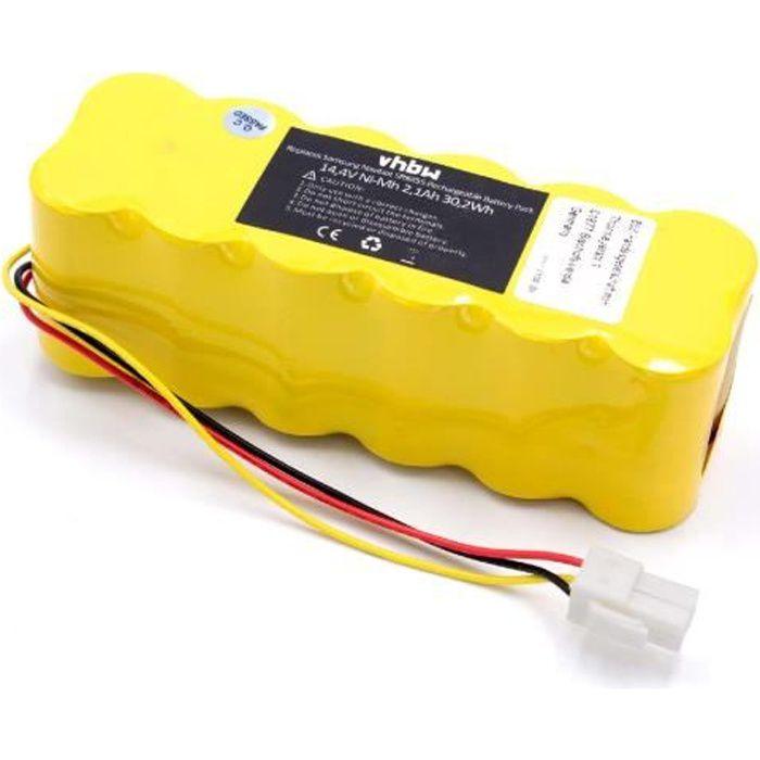 vhbw NiMH batterie 2100mAh pour robot aspirateur Samsung Navibot SR8730, SR8750 Light