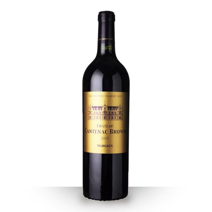 VIN ROUGE Château Cantenac Brown 2015 AOC Margaux - 75cl - V