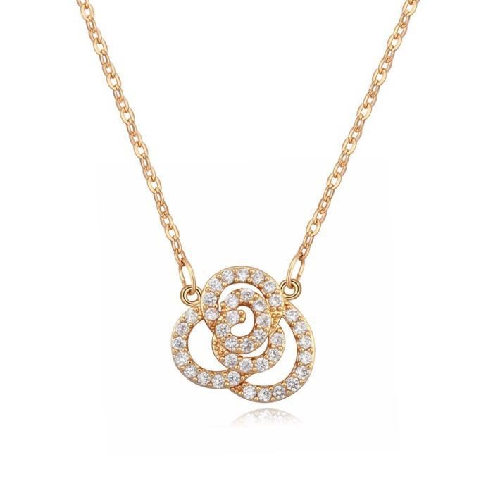 Womens Valentine Gifts Special Floral Odyssey Collection Charm Pendant Necklace For -DLO5X