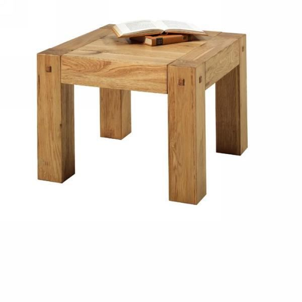 Table basse carr ch ne massif huil lodge casita meuble - Table basse chene huile ...