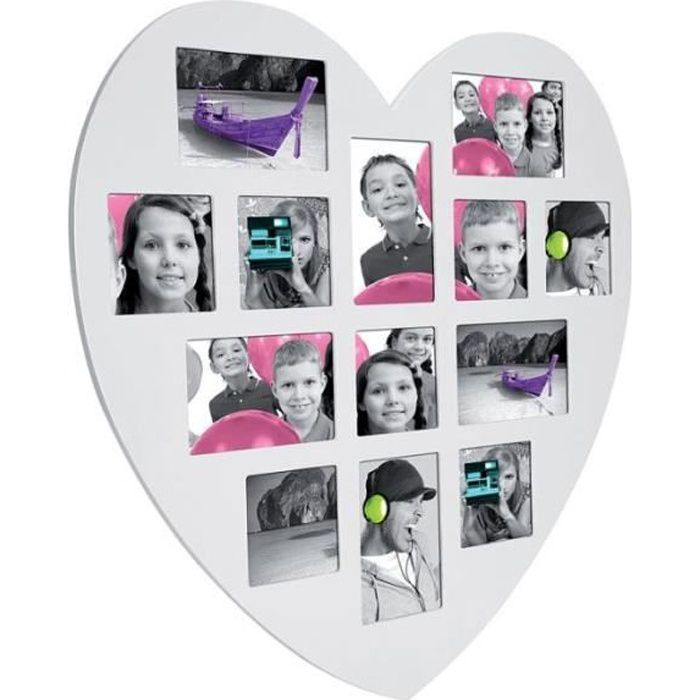 p le m le 13 photos cadre multi photos en for achat vente p le m le photo bois soldes. Black Bedroom Furniture Sets. Home Design Ideas