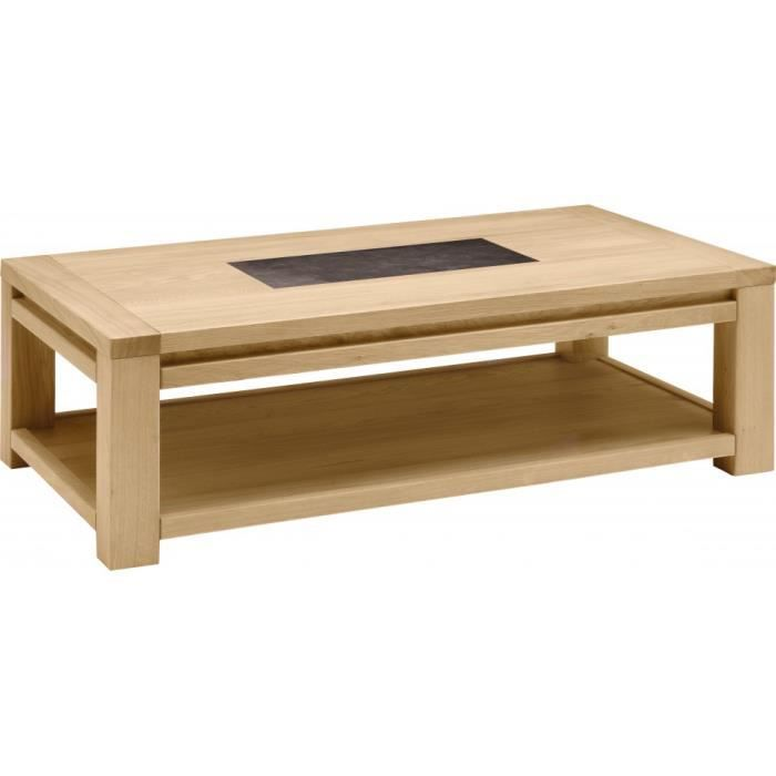 Table Basse Rectangulaire Ch Ne Naturel C Ramique Achat
