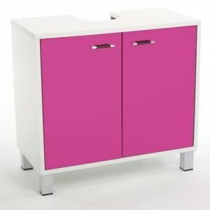 meuble de dessous de lavabo couleur rose achat vente meuble vasque plan meuble de. Black Bedroom Furniture Sets. Home Design Ideas