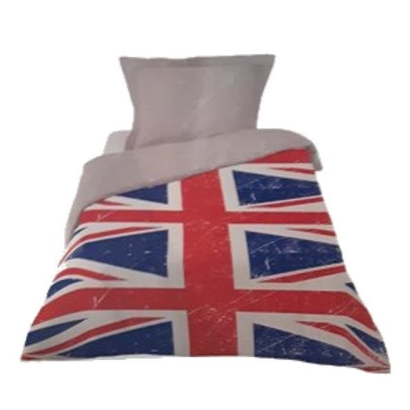 parure housse de couette union jack 1p achat vente. Black Bedroom Furniture Sets. Home Design Ideas