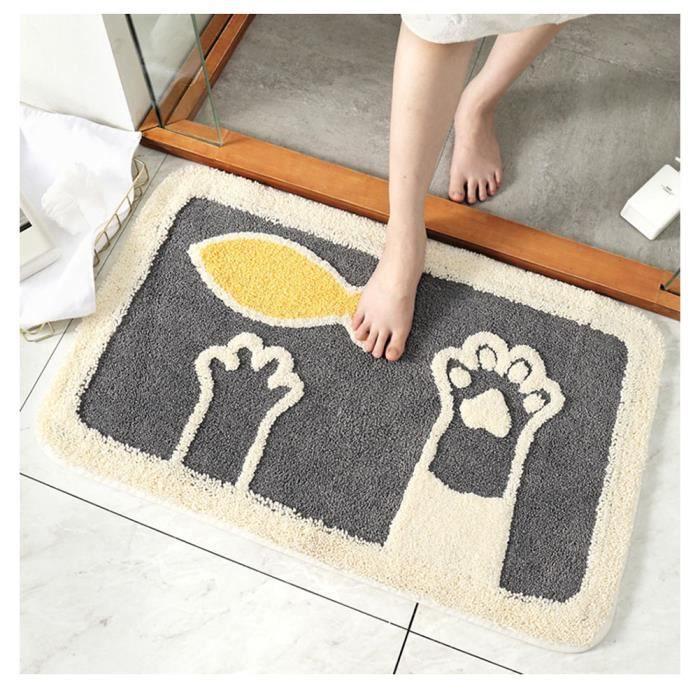 chat tapis de sol avec motif lavable en machine su